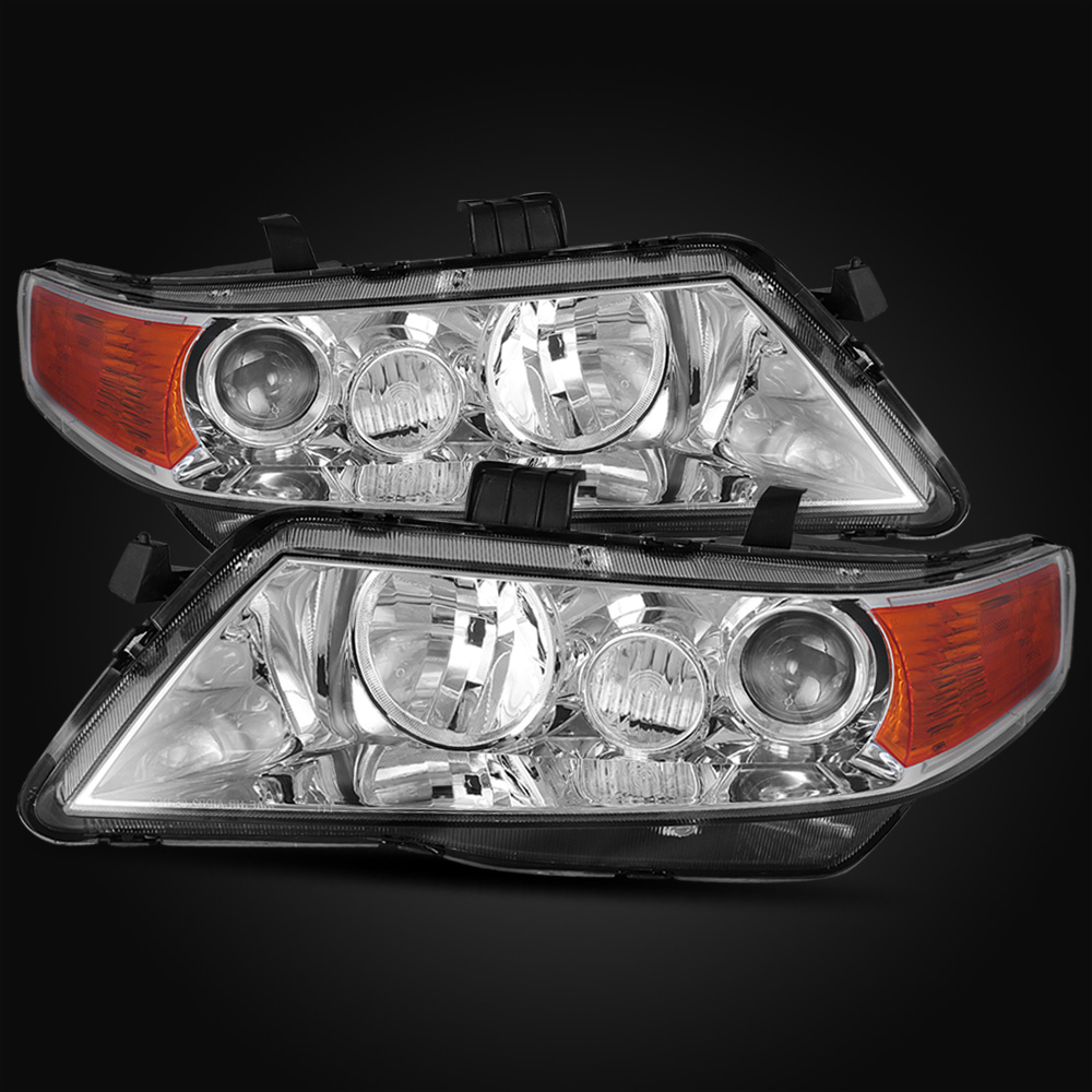 Acura 2005 Tsx For Sale: For 2004-2005 Acura TSX Style Chrome Projector Headlights
